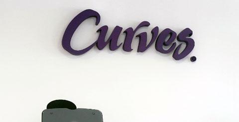 Scritta per centro Curves