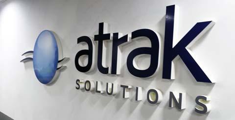 Scritta per ufficio Atrak