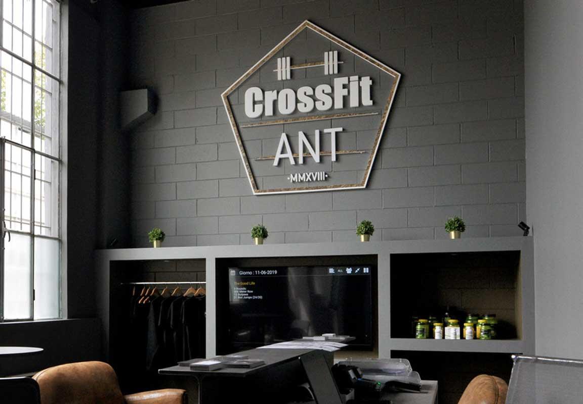 scritta in polistirolo 3d per palestra CrossFit ANT