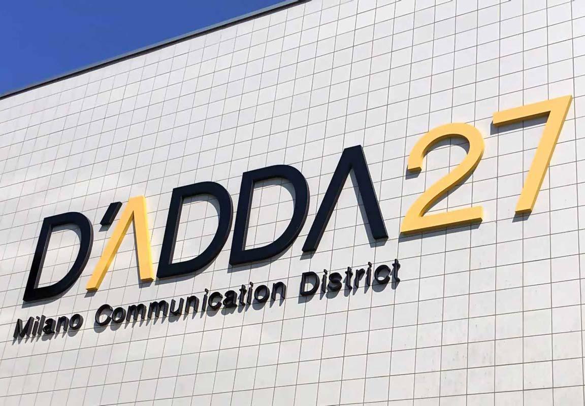 insegna 3d per centro direzionale D'Adda 27