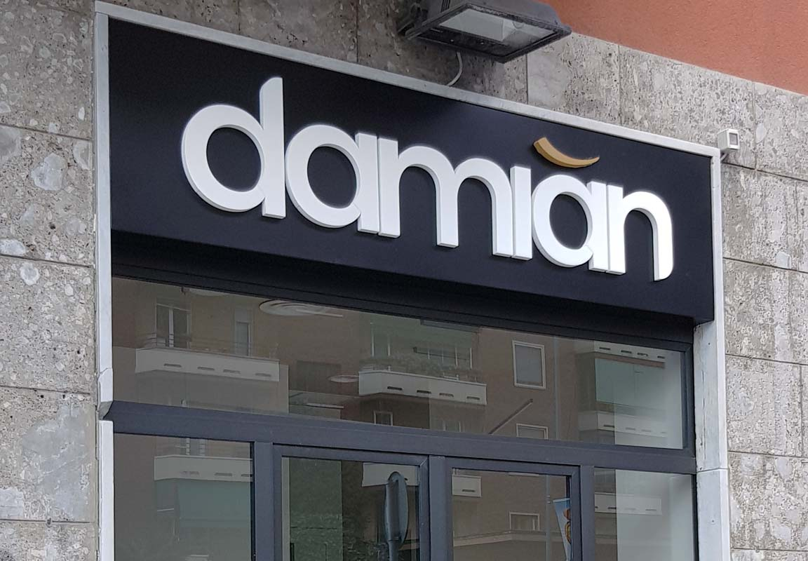 insegna 3d per parrucchiere Damian