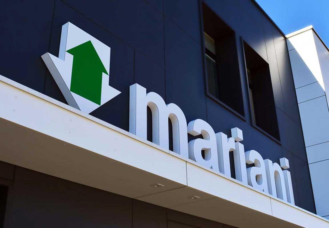 insegna 3d per sede azienda Mariani