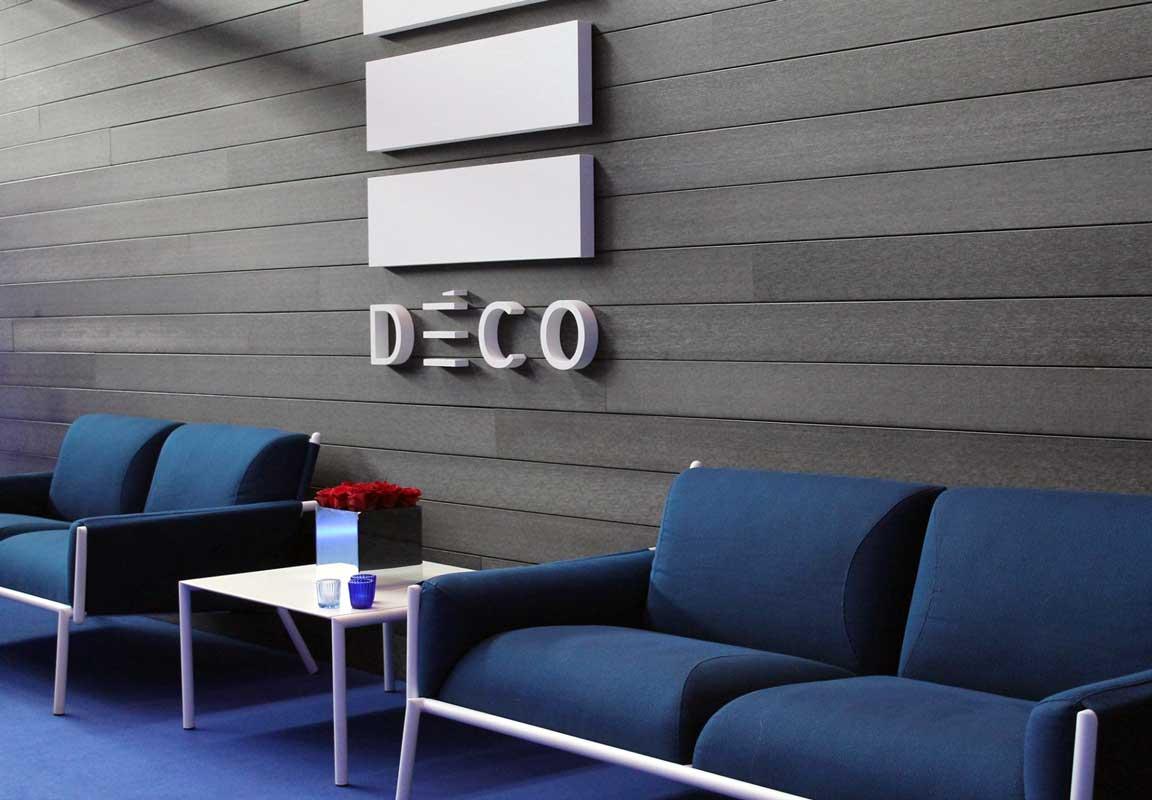 Logo in polistirolo per sala d'attesa Deco