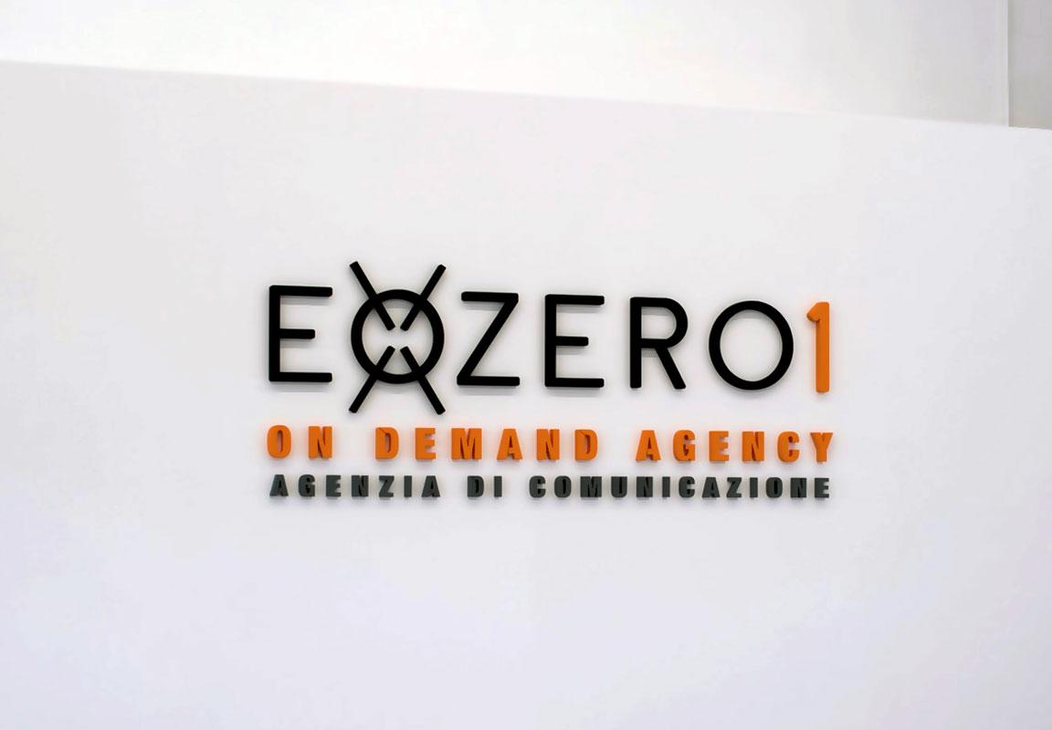 Logo in polistirolo per ufficio Exozero1