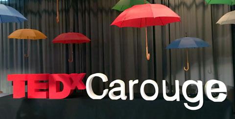 Lettere in polistirolo per TEDX Carouge