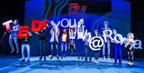 Lettere in polistirolo per TEDX Youth Roma