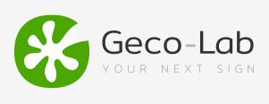 Geco Lab produttori scritte in polistirolo